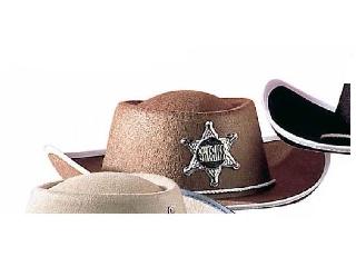 Cowboy kalap filcből - barna