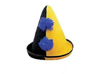 Bohóc kalap filcből - fekete-sárga