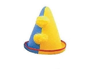 Bohóc kalap filcből - kék-sárga