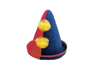 Bohóc kalap filcből - piros-kék