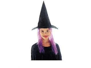 Boszorkány kalap - lila hajjal