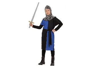 Lovag jelmez 128-as méret (kék)