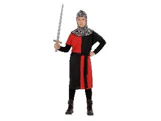 Lovag jelmez 140-es méret (piros)