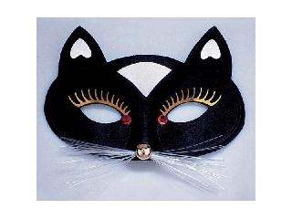 Macska álarc (fekete)