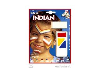 Figurás farsangi arcfesték - Indián