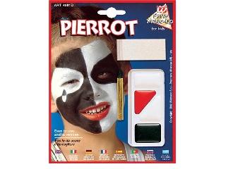 Figurás farsangi arcfesték - Pierrot bohóc