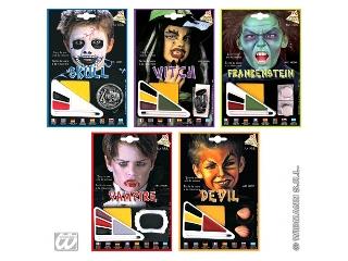 Halloween arcfestő készlet többféle színben