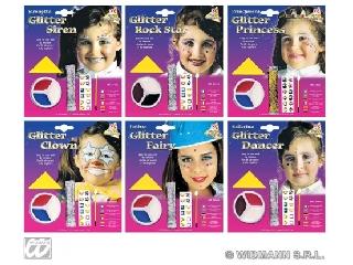 Csillámos arcfestő készlet több színben