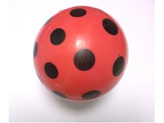 Pöttyös labda 14 cm-es fekete pöttyös