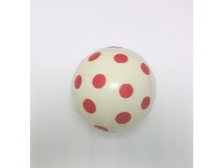 Pöttyös labda 14 cm-es piros pöttyös