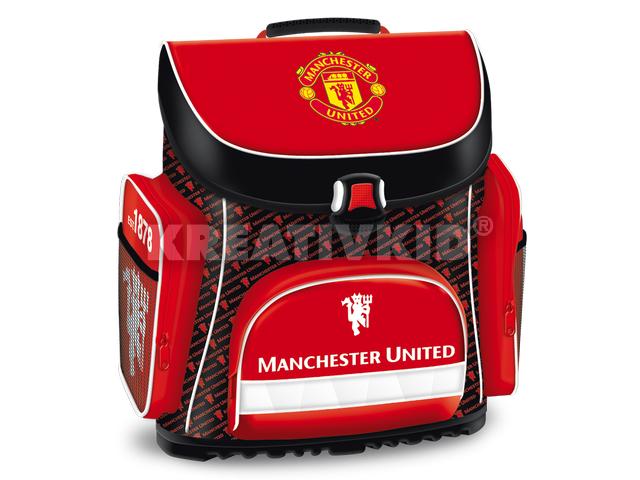 Manchester United kompakt iskolatáska - ajándék emeletes tolltartóval