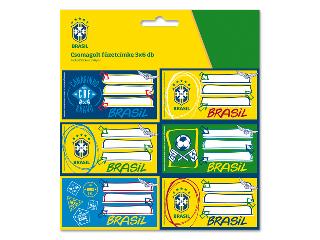 Brasil csomagolt füzetcímke (3x6 db)
