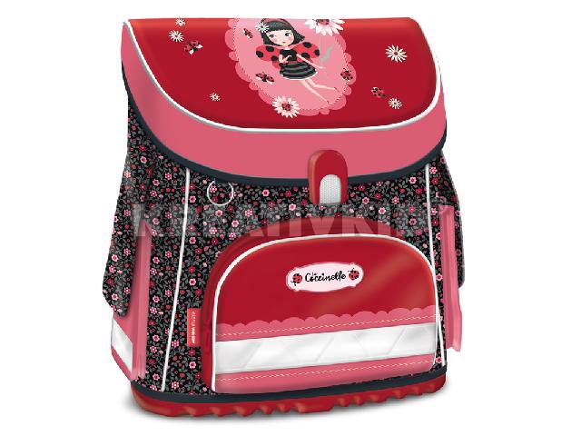 La Coccinelle kompakt easy mágneszáras iskolatáska - ajándék többszintes tolltartóval