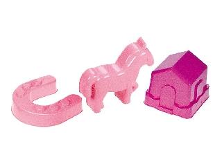 Homokozóformák (istálló, ló, patkó)