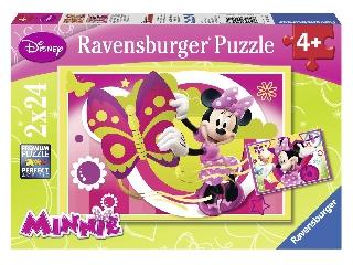 Egy nap Minnie-vel - 2 x 24 db-os puzzle
