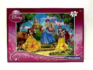 Clementoni - 100 db-os puzzle  - Disney hercegnők