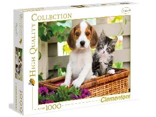 Kiskutya és kismacska 1000 db-os puzzle