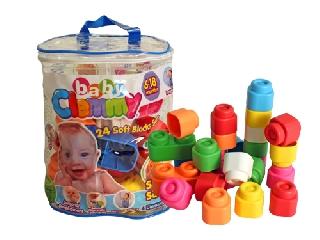 Clemmy baby puha építőkocka hordozható táskában