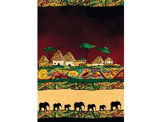Afrikai elefántok 500 db-os homok puzzle
