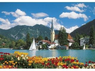 Alpesi tó (Tegernsee) 6000 db-os puzzle