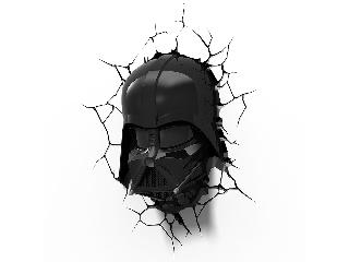 SW Darth Vader 3D fali lámpa