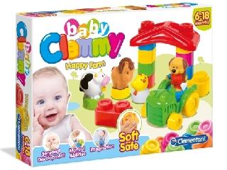 Clemmy Baby puha építőkocka készlet - Vidám farm