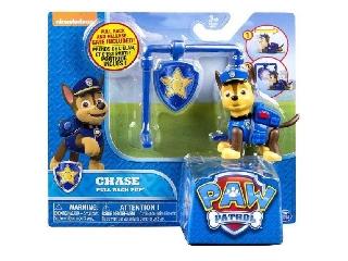 Mancs őrjárat - Chase figura és jelvény álványon