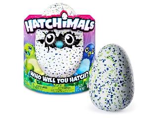 Hatchimals Draguella - Kikelthető pingvintojás - Kék-zöld pöttyös
