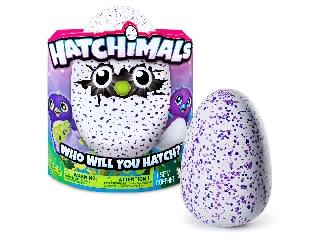 Hatchimals Draguella - Kikelthető pingvintojás - Lila pöttyös