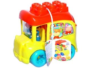 Clemmy Baby puha építőkocka készlet - Iskolabusz