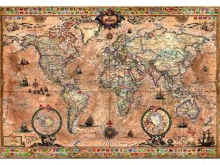 Antik térkép - 1000 darabos kirakó