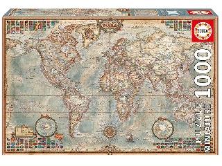 Educa - Politikai térkép mini puzzle, 1000 darabos
