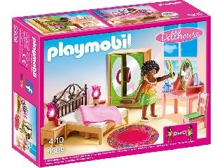 Playmobil Dollhouse - Hálószoba, világító éjjelilámpával
