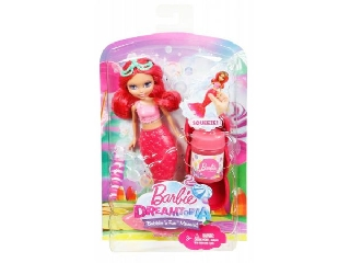 Barbie Dreamtopia buborékfújó mini sellő - piros