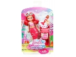 Barbie Dreamtopia buborékfújó mini sellő - piros