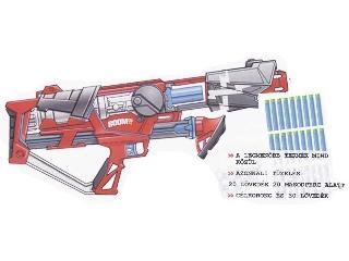 Boom Rapid Madness gyorstüzelő kilövő - extra ajándékokkal