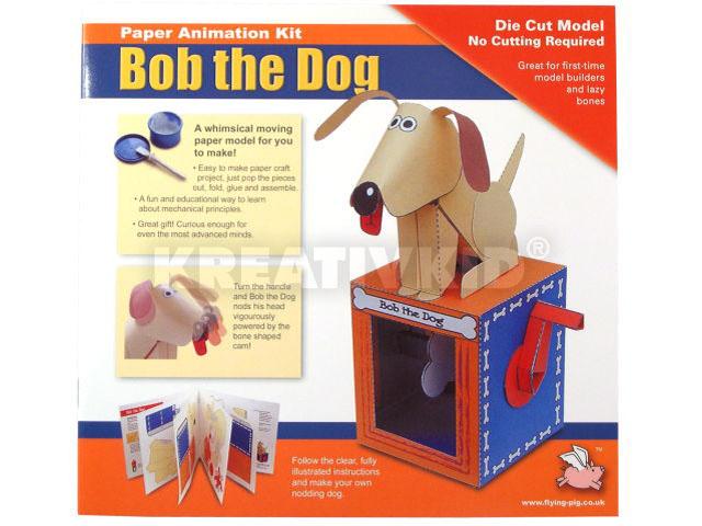 Mozgó papírjáték - Bob kutyus