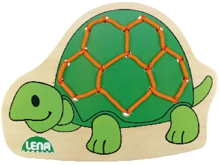 Fa fűzősjáték teknős