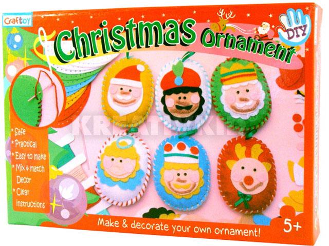 Karácsonyi díszkészlet (arcok)
