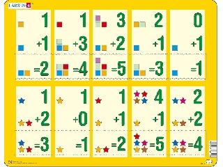 Larsen maxi puzzle 10 db-os Összeadás AR14