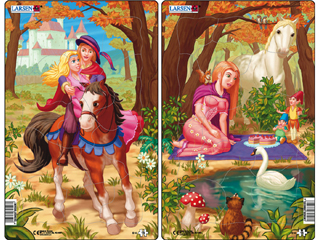 Larsen Midi Puzzle - Hercegnők S14