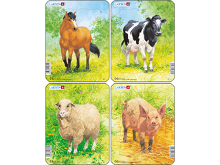 Larsen Mini Puzzle - Állatok a farmon V1