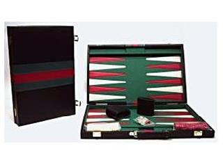 Backgammon, 38x25 cm-es, fekete műbőr - 605502