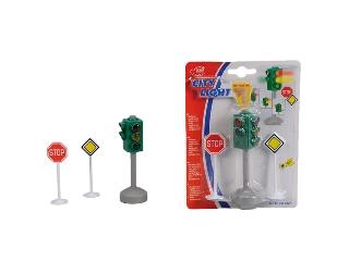 Közlekedési lámpa és tábla szett