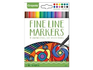 Crayola színes vékony filctoll 12 db-os felnőtt színezőhöz