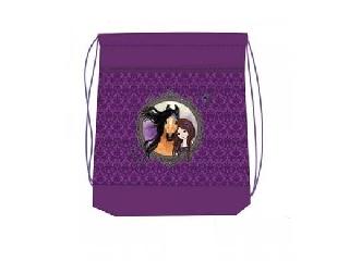 Hálós és zsebes tornazsák - Friends Forever - lila