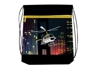 Hálós és zsebes tornazsák - Run away - helikopteres