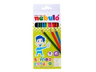 Nebulo - Hatszögletű színes ceruza készlet - 12 szín