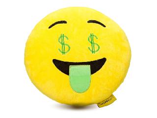 Imoji Dollár párna (emoji)