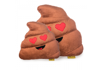 Imoji Szerelmes kaki párna emoji 50 cm